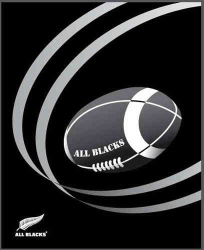 Plaid All blacks Balls 130 x 160 cm