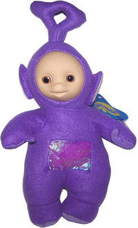 Peluche Teletubbies Tinky Winky Violet 25 cm debout