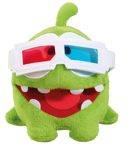 Peluche Cut the Rope OmNom 11 cm Lunettes