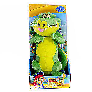 Peluche Crocodile Tick Tock de Jake et les pirates 25 cm