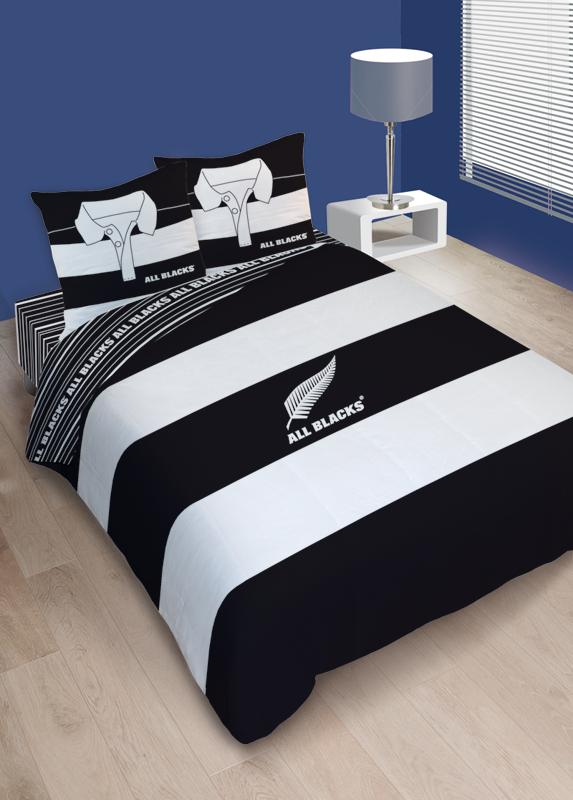 Parure Housse De Couette All Blacks Polo 240 X 220 Cm
