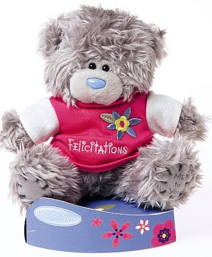 Peluche me to you ours felicitation 15 cm