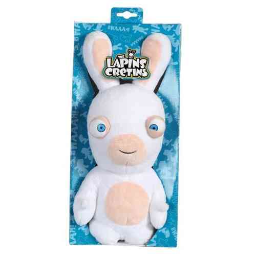 Peluche Lapin Crétin sonore 28 cm