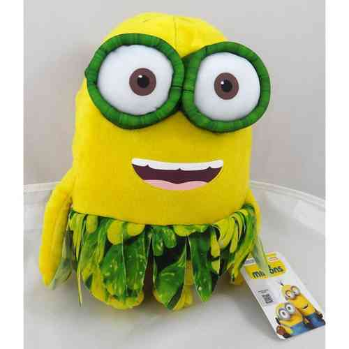 Peluche Minion au naturel 2 yeux 28 cm