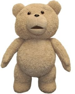 Peluche ted 2 ours  avec son 48 cm