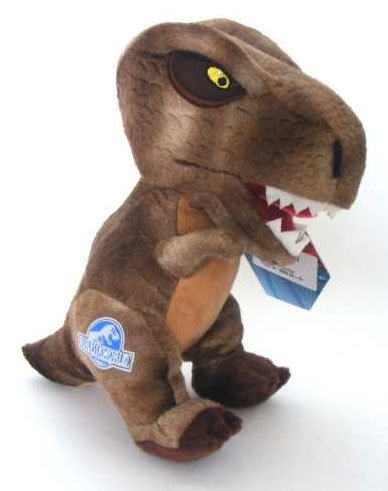 Peluche Jurassic World 25 cm T rex Marron