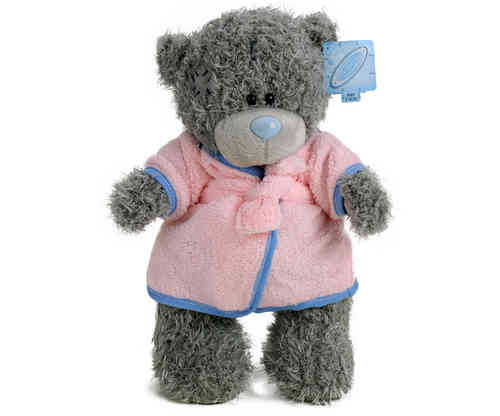 Peluche Me to you Ours avec peignoir rose 30 cm