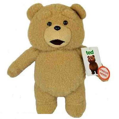 Peluche Ted sonore ours 30 cm