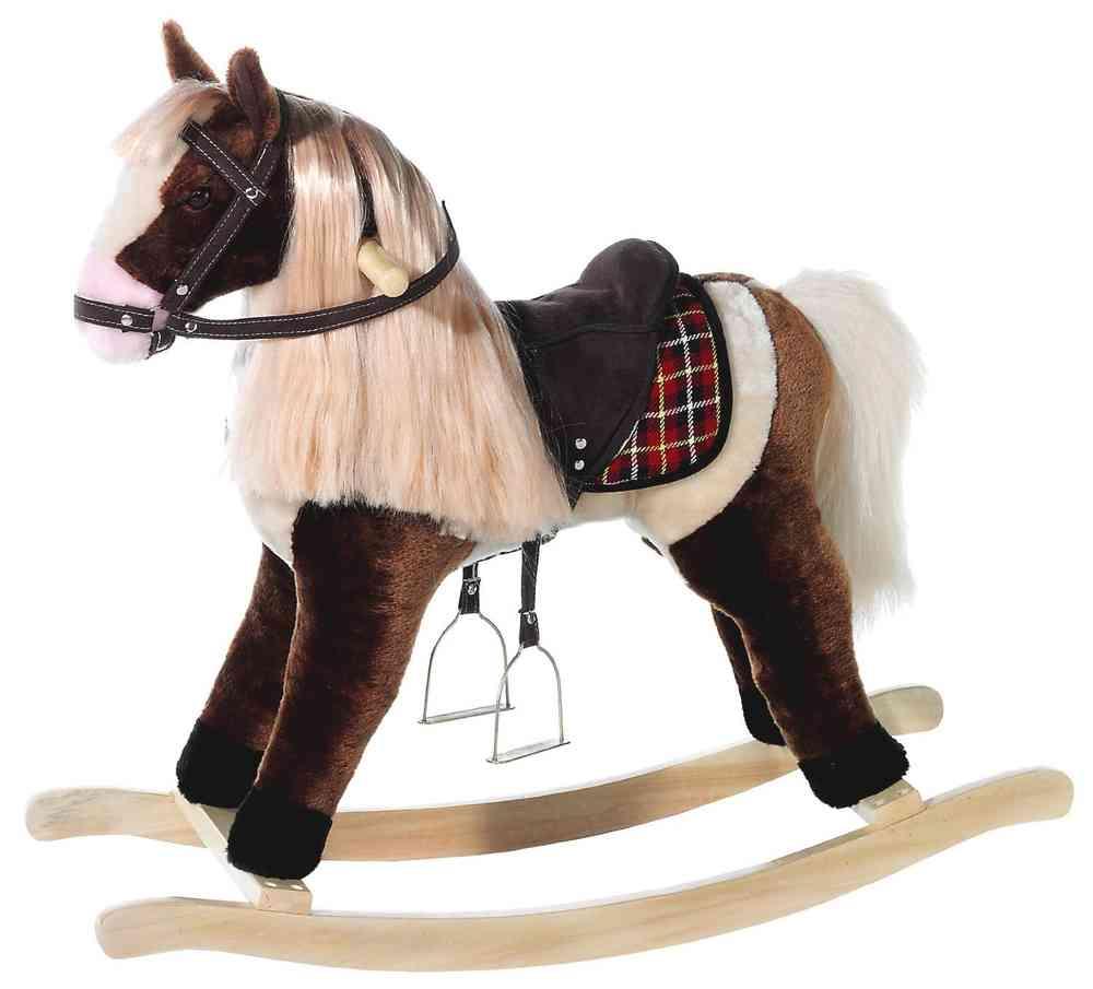Peluche cheval à bascule Wendy Dixie 74 cm