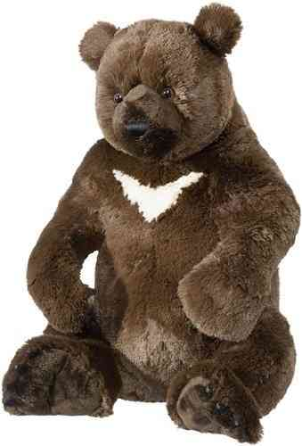 Peluche Ours Grizzly 45 cm assis
