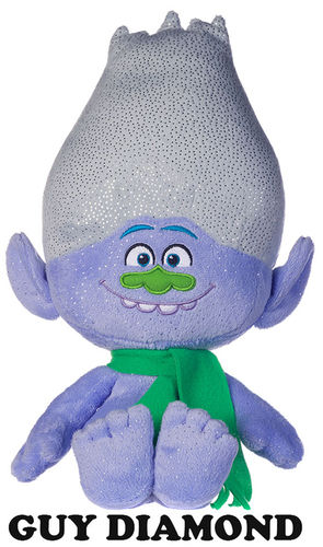 Peluche Trolls Guy Diamond Noël 40 cm