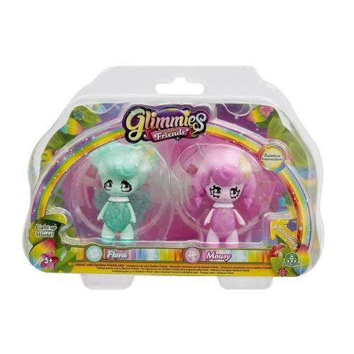 Glimmies Rainbow Friends Modèles Flora & Mousy 6 cm