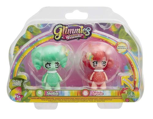 Glimmies Rainbow Friends Modèles Shelisa et Spiria  6 cm