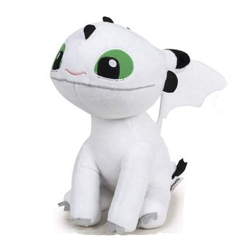 Peluche Dragon 3 Bébé Dragon blanc  25 cm