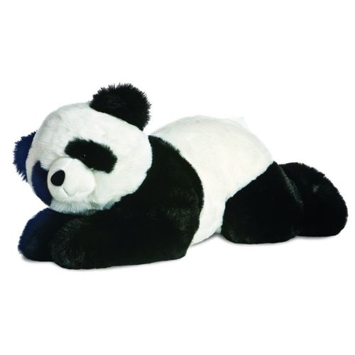 Peluche Panda couchée 65 cm Superflops