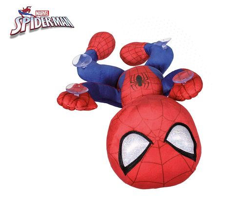 peluche spiderman marvel avec ventouse 28 cm