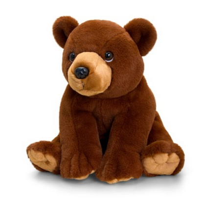 Peluche ours grizzly marron 30 cm