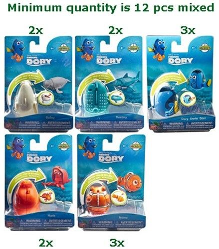 lot de 5 Figurines le monde de dory Dory Hatch  Heroes nemo