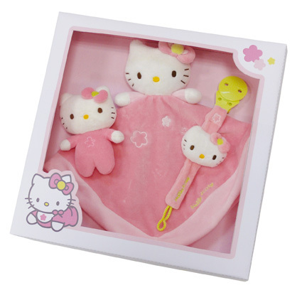 Coffret cadeau Hello Kitty mini hochet