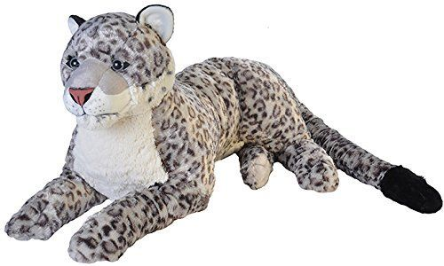 Peluche Wild republic Leopard des neiges 76 cm