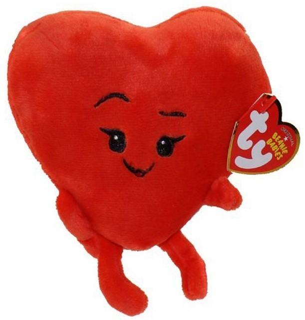 Peluche Ty Emoji Coeur Rouge 15 Cm