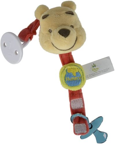 Attache tétine Winnie 20 cm rouge