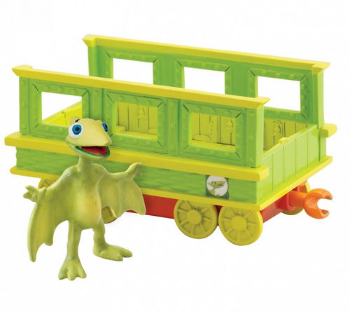 Figurine Dino train Tiny et son wagon