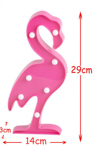 Lampe Led Deco Flamant rose 29 cm
