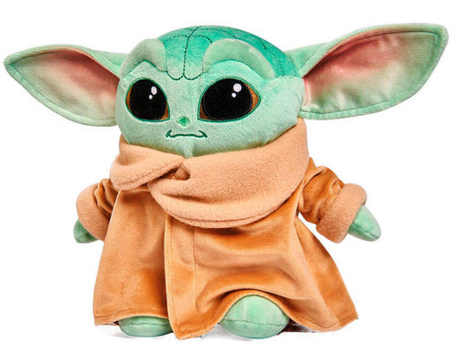 Peluche le Mandalorian, bébé Yoda , the Child 25 cm