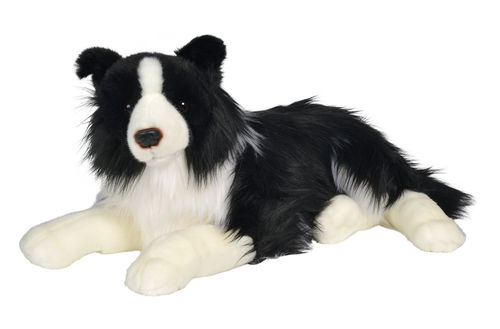 Peluche chien Border Collie 55 cm de long