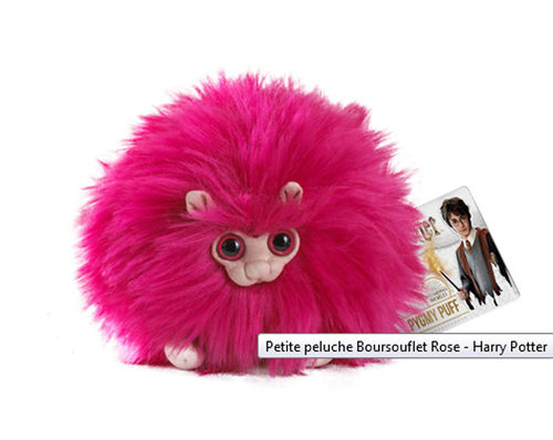 Peluche Harry Potter Boursouflet rose 15cm