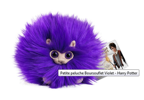 Peluche Harry Potter Boursouflet violet 15cm